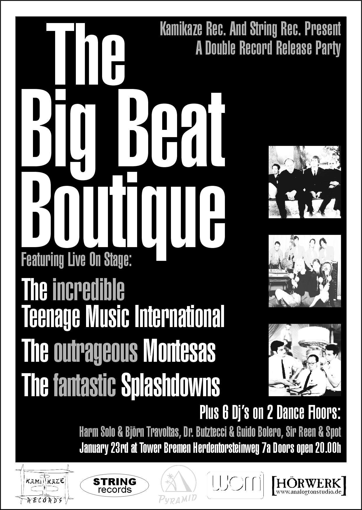 The splashdowns tourdaten vergangenheit for The beat boutique